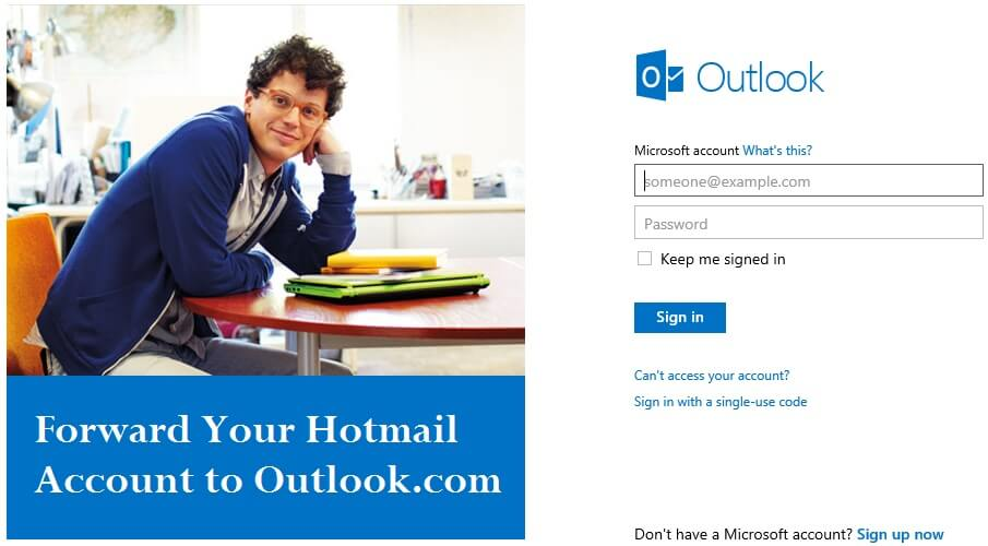 Forward Your Hotmail Account to Outlook