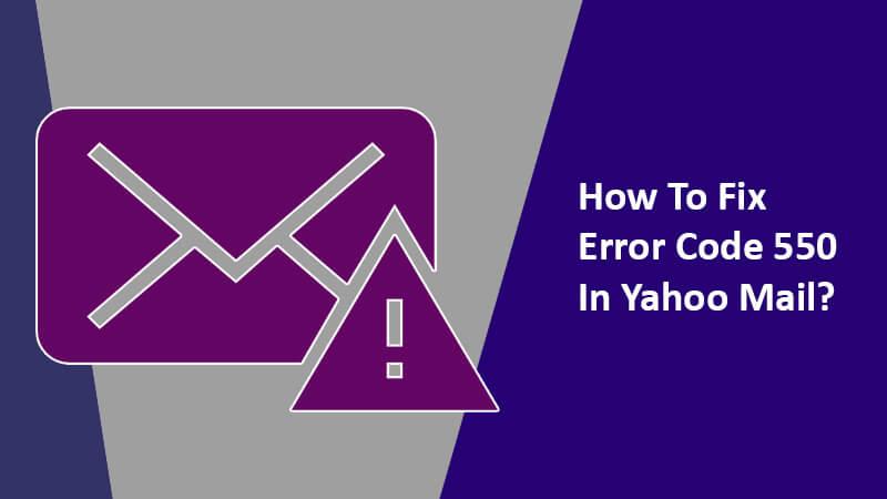 Error Code 550 on Yahoo Mail